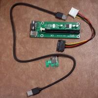 harga PCI Express Riser versi USB MOLEX SATA dengan board dan kapasitor Tokopedia.com