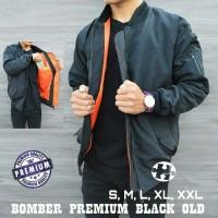 Jaket Bomber Pilot Waterproof Kekinian   Warna Black / Hitam   [PROMO]