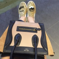 Chiara Ferragni Wink Shoes in Gold and Silver