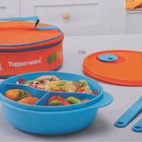Jual Tupperware Fancy Crystalwave Lunch Set Tempat Makan wadah kotak box Murah
