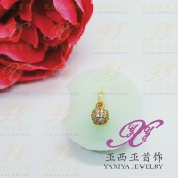 Liontin Mini Globe permata imitasi gold 18K Yaxiya jewelry