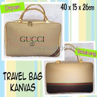 Tas Travel Bag Koper Kanvas Renang Kotak Dewasa Gucci Gold
