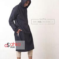 PROMO - Baju Gamis Black Kaftan Hoodie by Bromedistrict