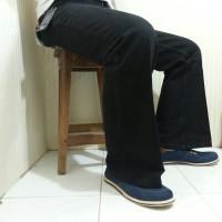 Celana Jeans Cutbray Cowok | Komprang | Hitam | Zendo | C17