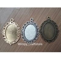 kalung cameo cobochon bahan aksesoris clay art bahan craft kalung