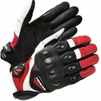 RS Taichi Velocity Leather Mesh Glove RST428 Red/White