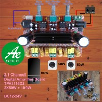 2.1 Channel Digital Power Amplifier Board TPA3116D2 2x50W+100W 12-24V