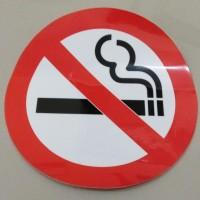 Stiker No Smoking Logo EHS Dilarang Merokok Kantor Masjid Rumah Wall