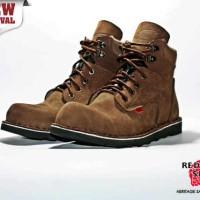 harga Sepatu Boots Safety Pria Red Wing Treking Keren Buck+Flat Besi depan Tokopedia.com