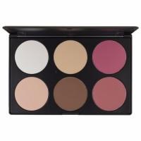 BH Cosmetics Blush Professional 6 Colour Contour / Blush Palette