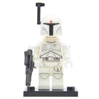 White Boba Fett Star Wars Bounty Hunter - Lego Bootleg Limited