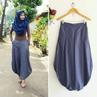 harga Long Clody Pants Dark Blue Tokopedia.com