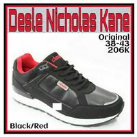 Sepatu Olahraga Desle Nicholas Kane Black + BONUS