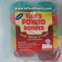 Donut Kentang Frozen Warna - Warni isi 10 pcs