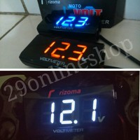 Voltmeter Digital Mini DC Rizoma Slim mirip Koso Waterproof Motor