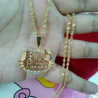 Kalung Nama Lapis Emas Bunga Hello Kitty  Fashion  Aksesoris  Jewelry