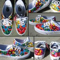 sepatu vans lukis custom