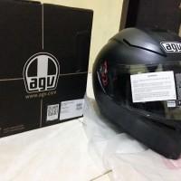 Helm AGV K3 SV Solid Black Dopp Hitam Doff Visor Fullface K3SV Dop