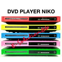 Dvd Player NIKO Mp3 Usb Socket Mic Vcd Dvd Murah