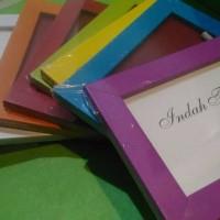 bingkai poto 4r frame cantik pigura minimalis warna