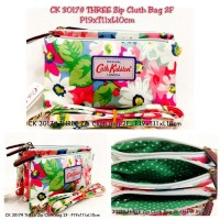 TAS CATH KIDSTON 3017 #THREE ZIP CLUTH BAG 2FUNGSI