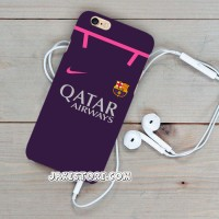 Barcelona Away 2017 Jersey iPhone Case 6 6s Plus 7 7+ Casing cover HP