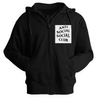 cfa37e58c79b Hoodie Sweater Zipper Anti Social Social Club - Glory Cloth
