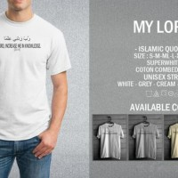 Kaos Muslim My Lord T-Shirt Raglan Islam Islami Quotes