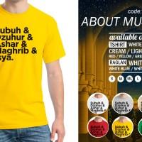 Kaos About Muslim 06 T-Shirt Raglan Islam Islami Quotes