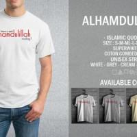 Kaos Muslim Alhamdulillah T-Shirt Raglan Islam Islami Quotes