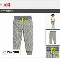 Baju Branded Anak Murah Grey Joger Sweatpant Celana Joger Anak Branded