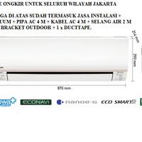 PROMO AC PANASONIC 1/2 PK LOW WATT ECONAVI CS-XN5RKJ (FREON R32, 320 W