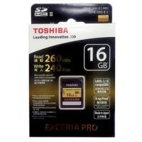 Toshiba SD Card Exceria Pro UHS-II (R260MB / S & W240MB / S) - 16GB