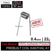 Authentic Coil Master Pre-built Kanthal A1 0.4 ohm | 22 awg tokotoped