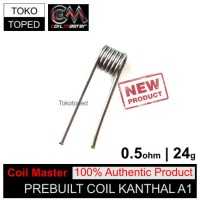 Authentic Coil Master Pre-built Kanthal A1 0.5 ohm | 24 awg tokotoped