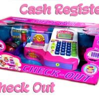 Supermarket Check Out Cash Register Pink / Timbangan / Mainan Anak