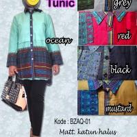 BLOUSE / blus / atasan batik wanita kantor baju muslim TUNIK Bzaq-01