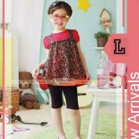 pakaian anak perempuan / baju setelan kaos leging GW 85L