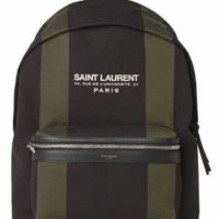 JUAL TAS YSL CANVAS BACKPACK STRIPE MIRROR QUALITY
