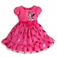 Dress Minnie Mouse Baju Pesta Anak Perempuan Gaun Bayi Pink Dres Baby