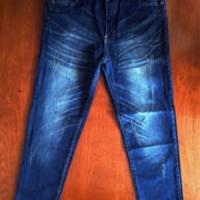 Jual Celana Jeans Denim Garment Wash Ukuran Super Jumbo 35-38 Murah