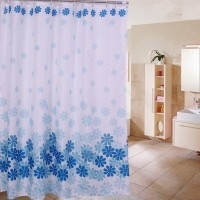 harga HH060 Shower Curtain Blue Orchid Tirai Kamar Mandi Anti Air Waterpro Tokopedia.com