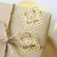 sticker packing packaging vintage perekat stiker cake plastik box kue