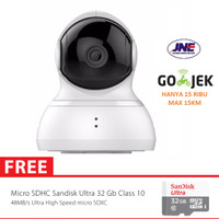 Xiaomi Yi Dome Home Cctv Camera 360 Vision International + MMC 32GB