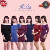 MALTA SABRINA DRESS bodycon dress baju pesta pakaian wanita murah