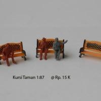 harga Miniatur Kursi Taman skala 1:87 untuk Maket Kereta Api Tokopedia.com