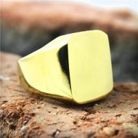 Cincin Titanium Ring Gold Cincin Pria Cincin Wanita Perhiasan Emas