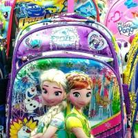 harga Tas Trolley Troli Dorong Sekolah Anak TK Playgroup Frozen 6D Timbul Tokopedia.com
