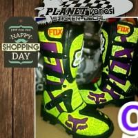 harga Sepatu CROSS  / MX / TRAIL FOX premium printing hijau stabilo Tokopedia.com