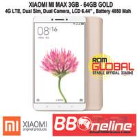 XIAOMI MI MAX GOLD RAM 3GB/64GB GARANSI 1 TAHUN